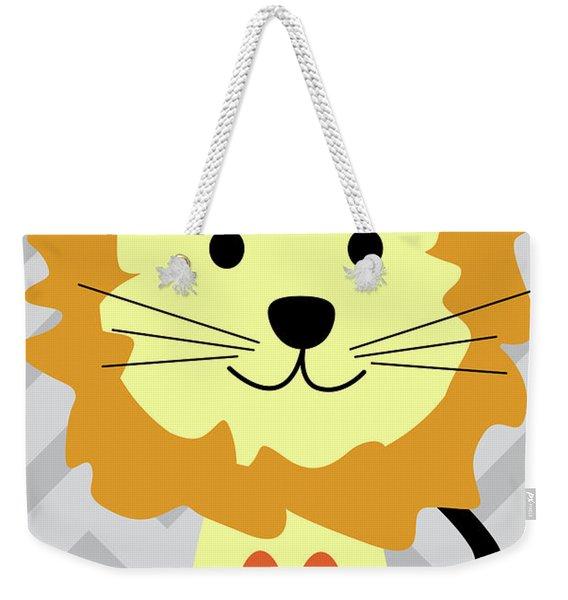 Little Lion Nursery Art Weekender Tote Bag