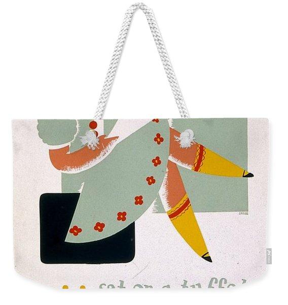 Little Miss Muffet - 1940 - Vintage Advertising Poster Weekender Tote Bag