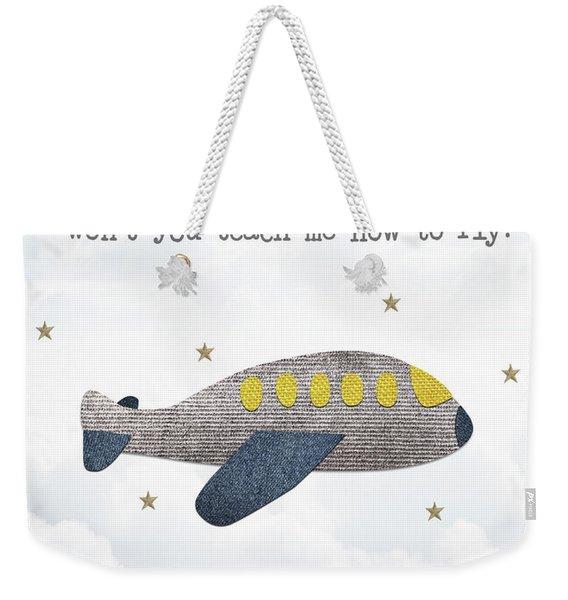 Little Plane Weekender Tote Bag