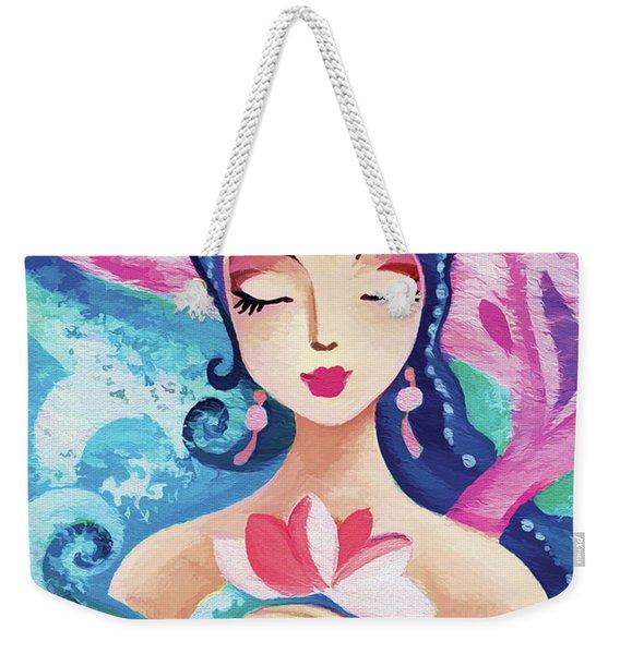 Little Quan Yin Mermaid Weekender Tote Bag
