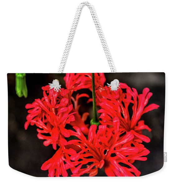 Little Red Flower Weekender Tote Bag