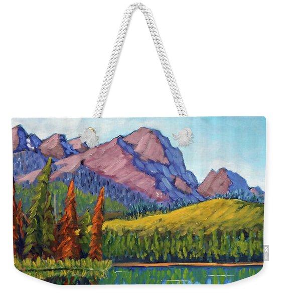 Little Redfish Lake Weekender Tote Bag