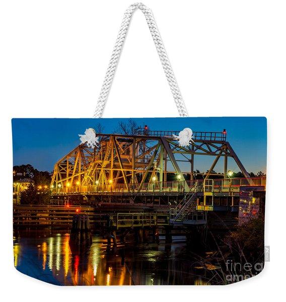 Little River Swing Bridge Weekender Tote Bag