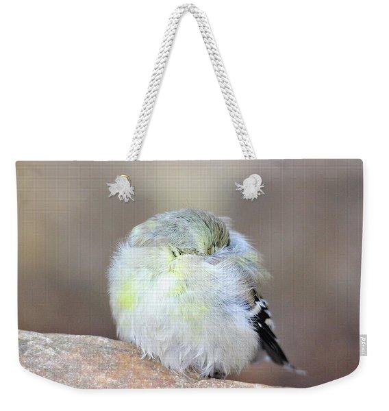 Little Sleeping Goldfinch Weekender Tote Bag