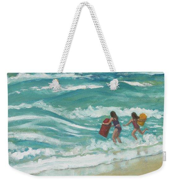 Little Surfers Weekender Tote Bag