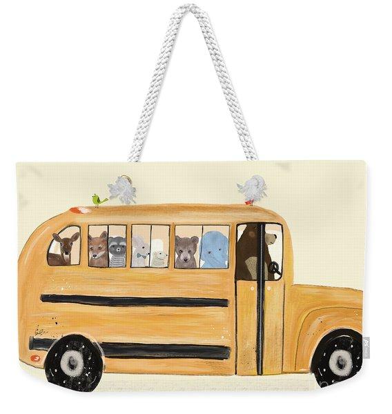 Little Yellow Bus Weekender Tote Bag