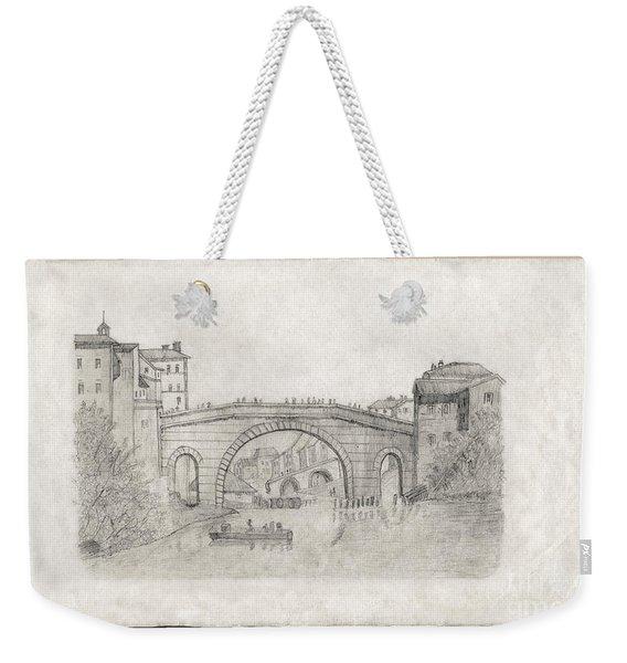 Liverpool Bridge Weekender Tote Bag