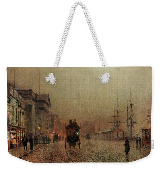 Liverpool Docks By Moonlight Weekender Tote Bag