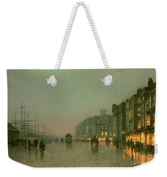 Liverpool Docks From Wapping Weekender Tote Bag