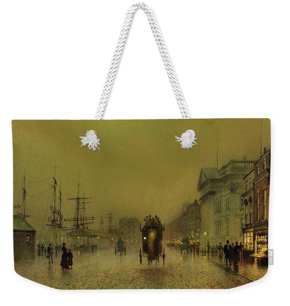 Liverpool Lights, Salthouse  Weekender Tote Bag
