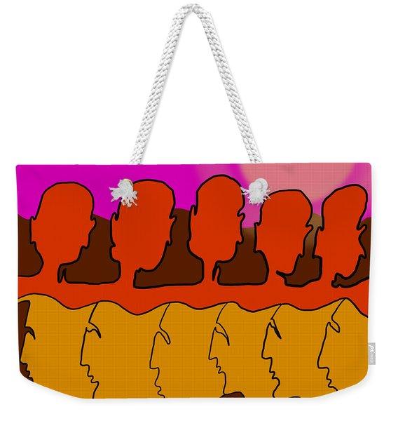 Living Together Weekender Tote Bag