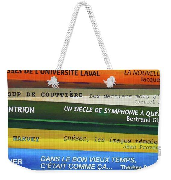 Livres ... Weekender Tote Bag