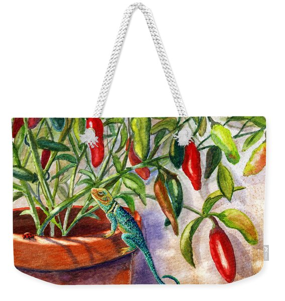 Lizard In Hot Sauce Weekender Tote Bag
