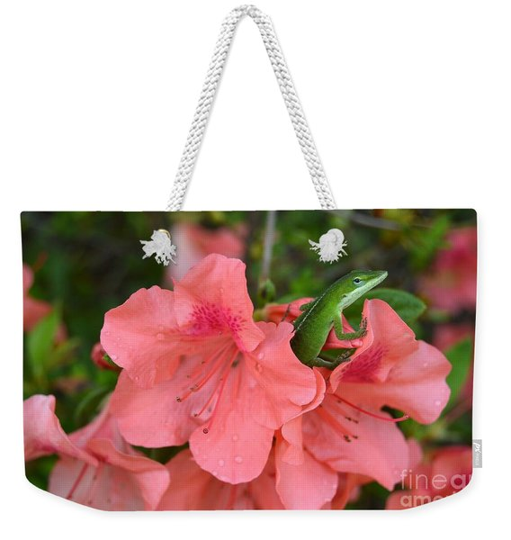 Lizzy On A Rainy Day Weekender Tote Bag
