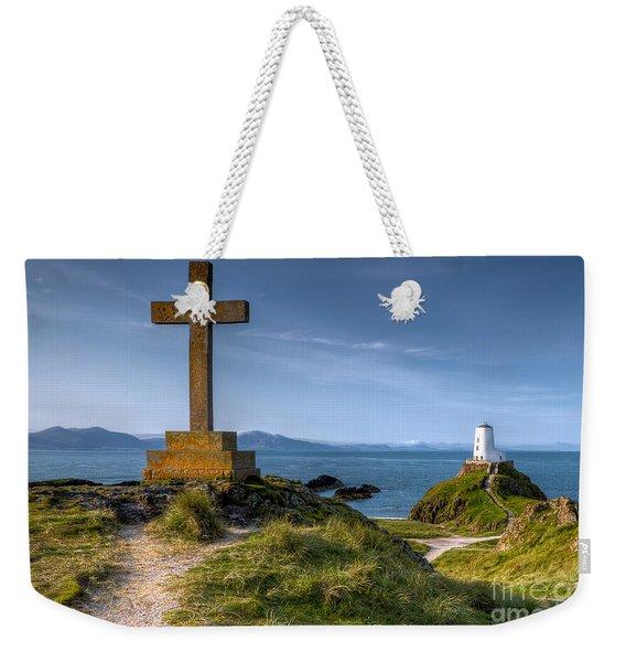 Llanddwyn Cross Weekender Tote Bag
