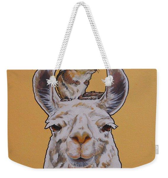 Llois The Llama Weekender Tote Bag