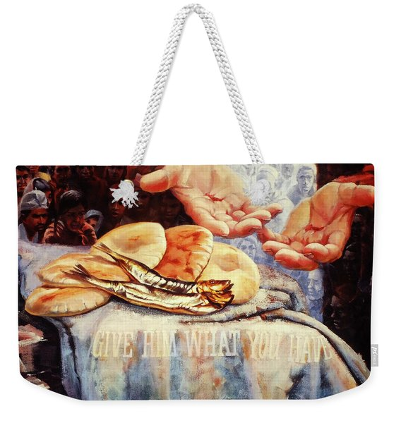 Loaves And Fishes 2 Weekender Tote Bag