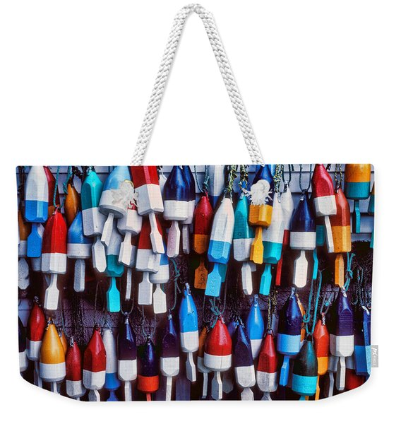 Lobester Trap Bouys Weekender Tote Bag