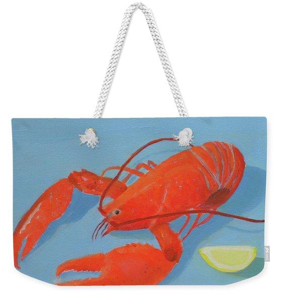 Lobster And Lemon Weekender Tote Bag