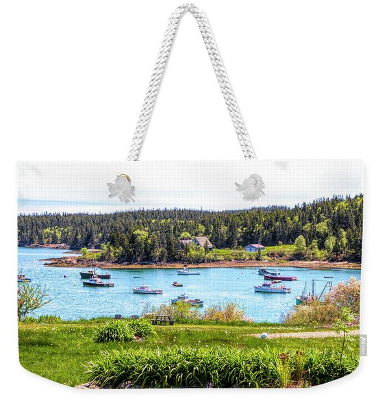 Lobster Boats  Weekender Tote Bag