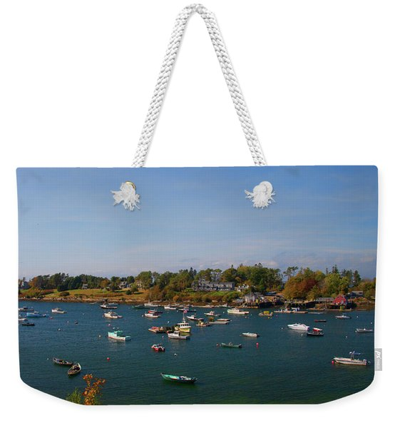 Lobster Boats On The Coast Of Maine Weekender Tote Bag
