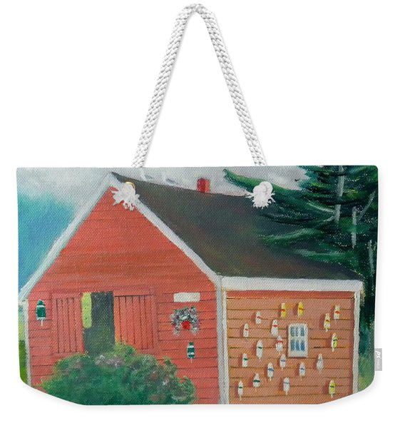 Lobster Buoy Shack Weekender Tote Bag