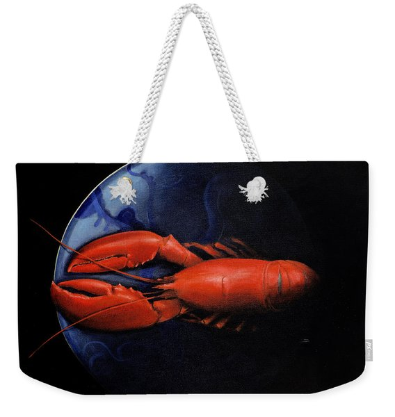 Lobster On Tiffany Plate Weekender Tote Bag