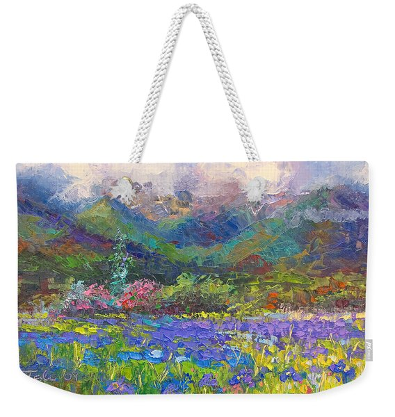 Weekender Tote Bag featuring the painting Local Color by Talya Johnson