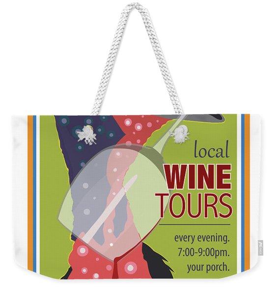Local Wine Tours Weekender Tote Bag