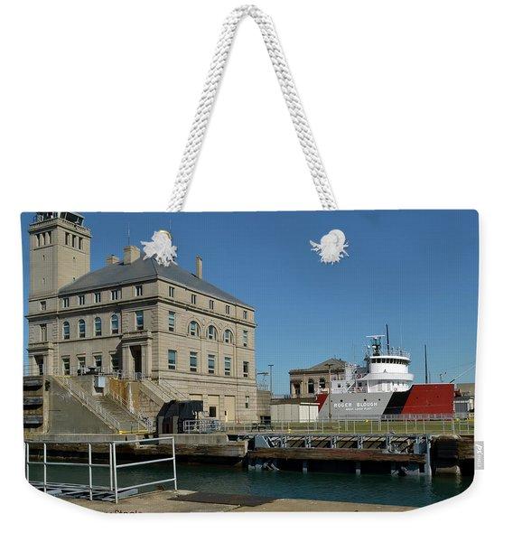 Locking Down Weekender Tote Bag