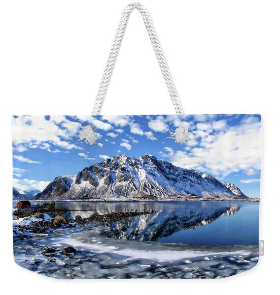 Lofoten Winter Scene Weekender Tote Bag