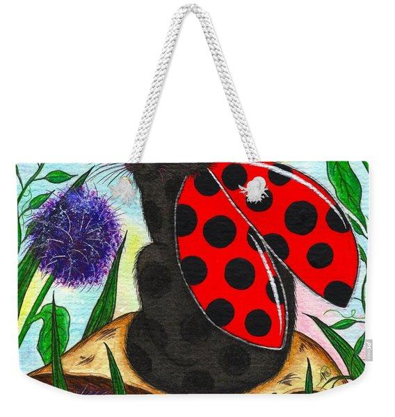 Logan Ladybug Fairy Cat Weekender Tote Bag