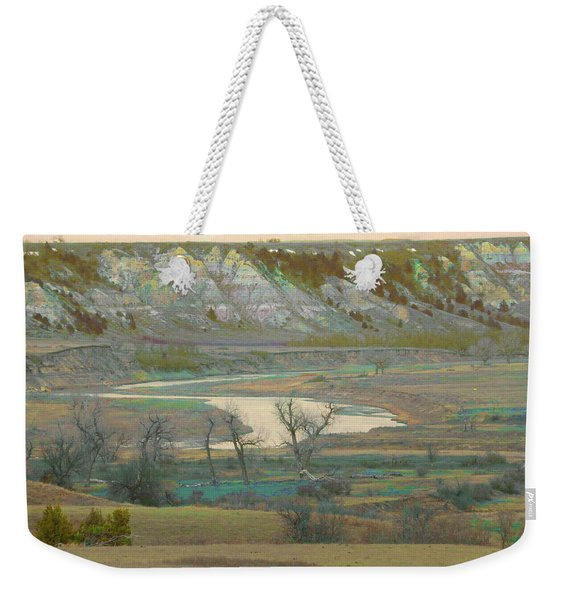 Weekender Tote Bag featuring the photograph Logging Camp River Reverie by Cris Fulton