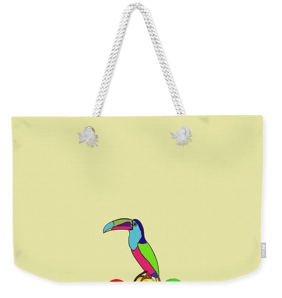Lolipop Bird Weekender Tote Bag