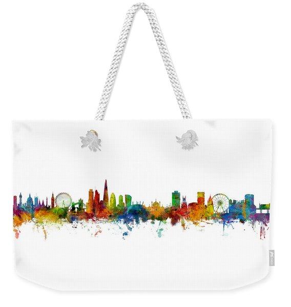 London And Brighton Skylines Mashup Weekender Tote Bag