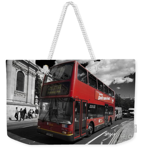 London Bus Weekender Tote Bag