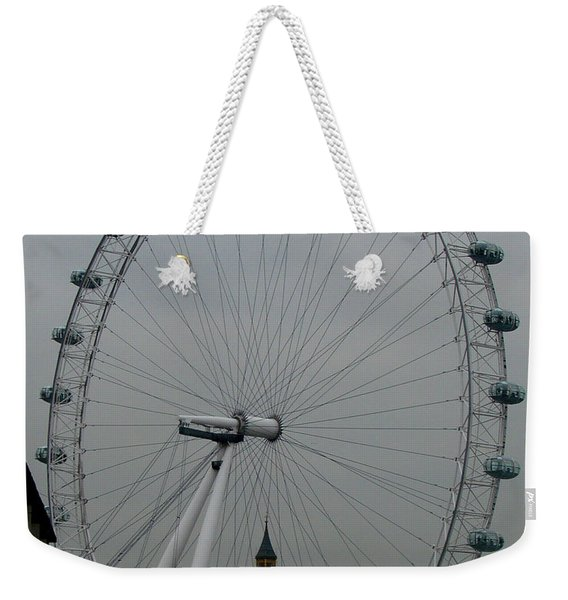 London Eye And Big Ben, London Weekender Tote Bag
