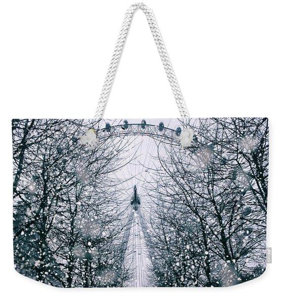 London Eye Snow Weekender Tote Bag