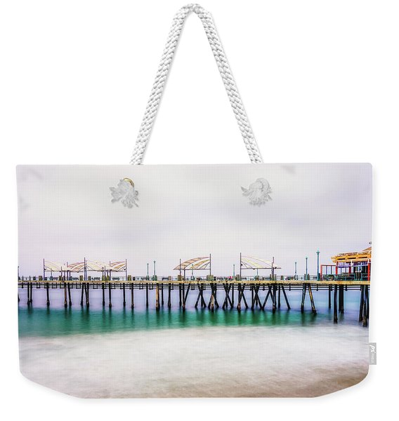 Weekender Tote Bag featuring the photograph London In Redondo by Michael Hope