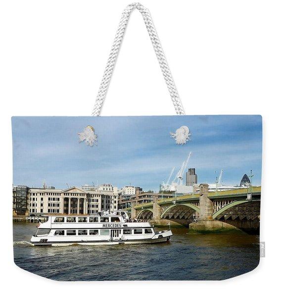 London River View Weekender Tote Bag