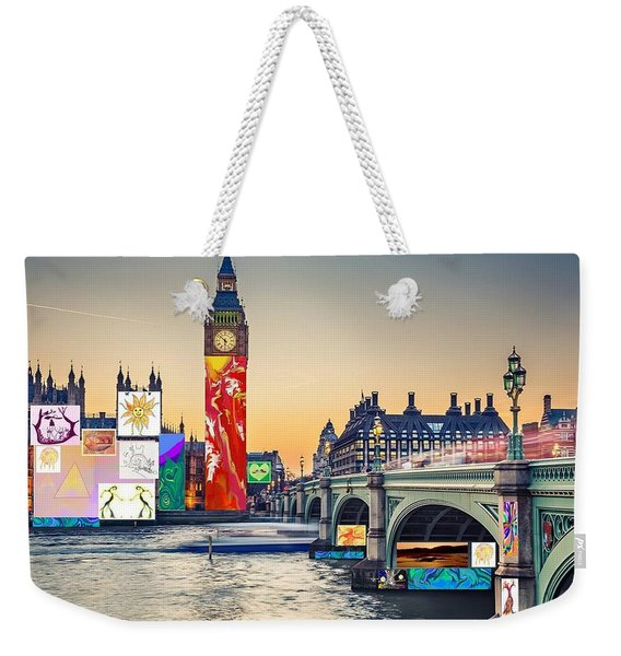 London Skyline Collage 3 Inc Big Ben, Westminster  Weekender Tote Bag