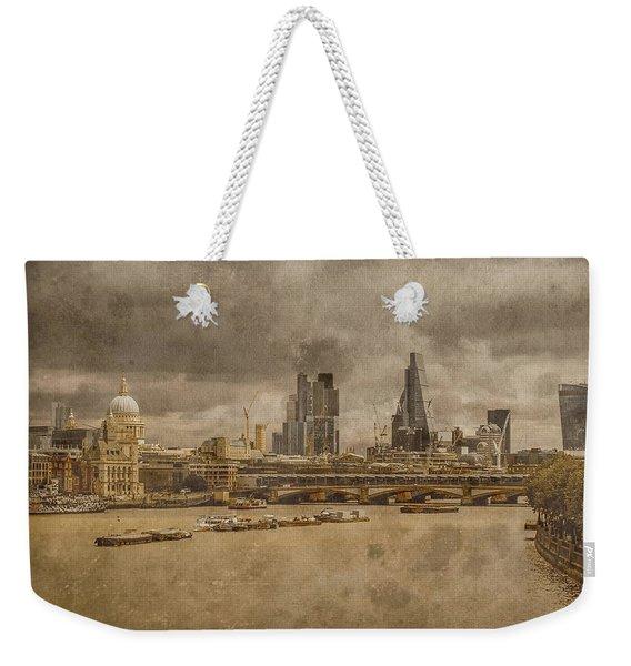 London, England - London Skyline East Weekender Tote Bag