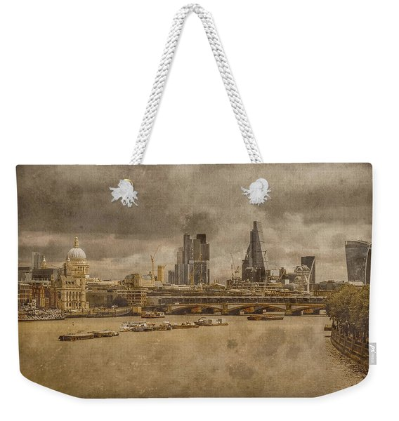 London, England - London Skyline East Weekender Tote Bag