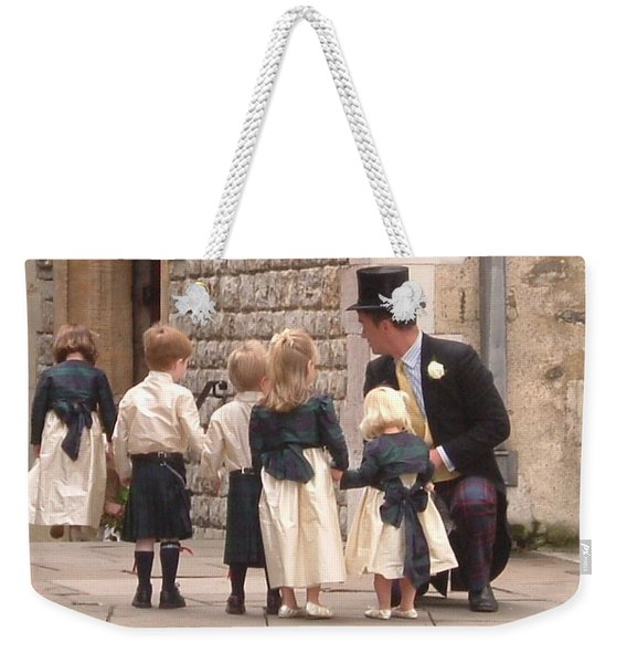 London Tower Wedding Weekender Tote Bag