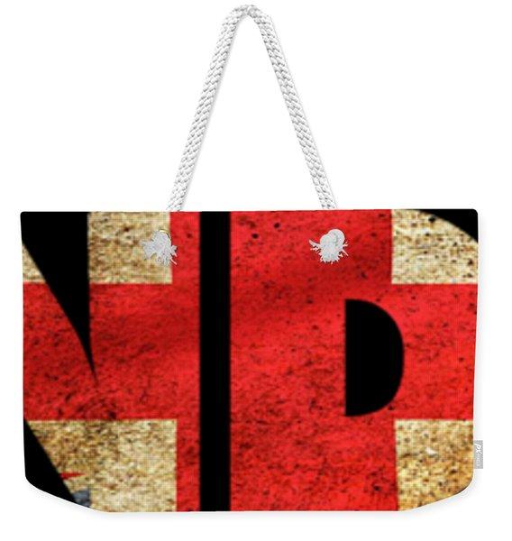 London Vintage British Flag Tee Weekender Tote Bag
