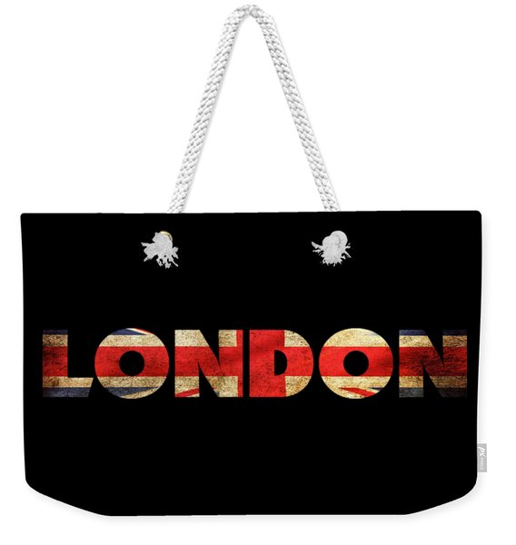 London Vintage British Flag Tee Weekender Tote Bag