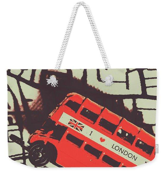 Londoners Travel Run Weekender Tote Bag