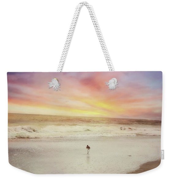 Lone Bird At Sunset Weekender Tote Bag