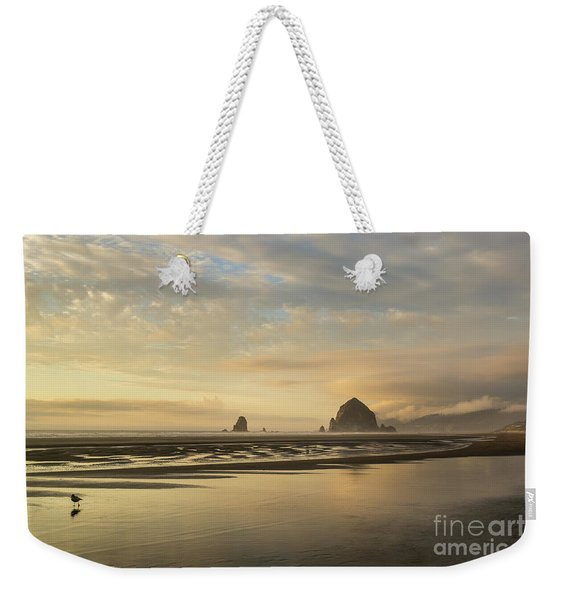 Sunset At Haystack Rock Weekender Tote Bag