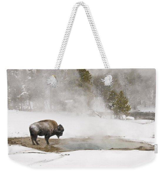 Bison Keeping Warm Weekender Tote Bag